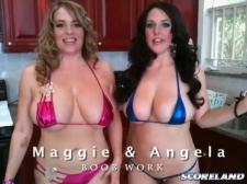 Angela And Maggie BTS