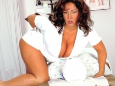 Nurse Larger than standard Tits