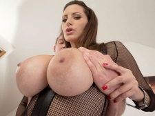 A Ball cream Injection For A 34DDD Brunette