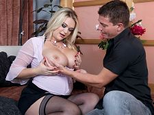 Busty Blond Likes To Be Watched